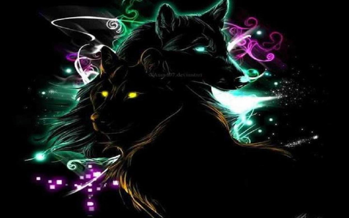 NEON WOLVES WALLPAPER   81979   HD Wallpapers   [desktopinHQcom] 1440x900