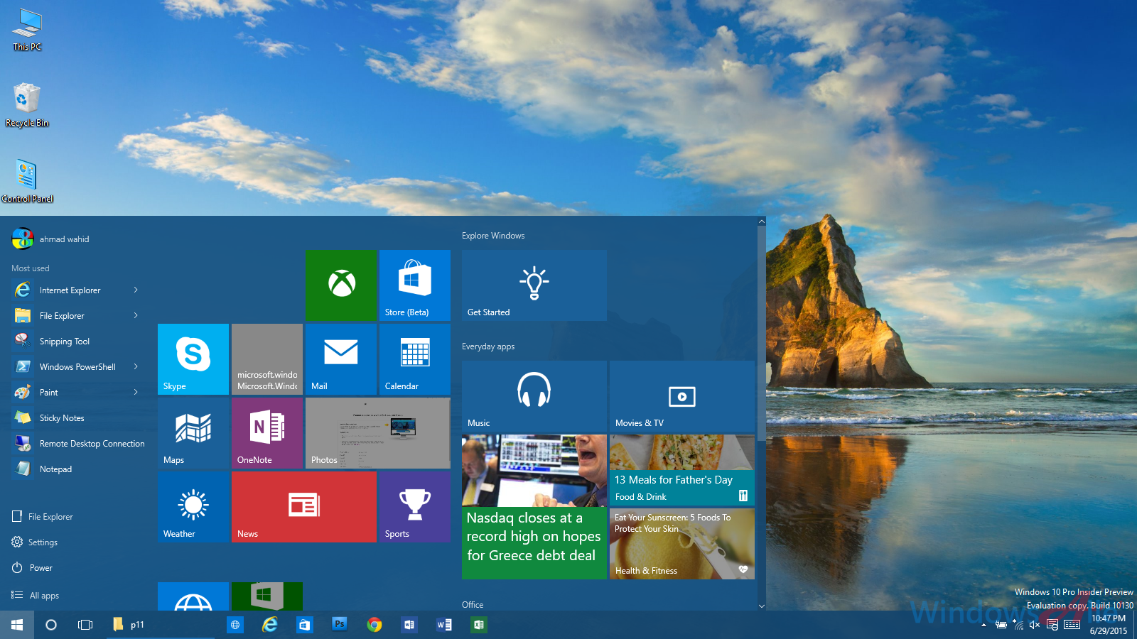 how to put multiple pictures on desktop background windows 10