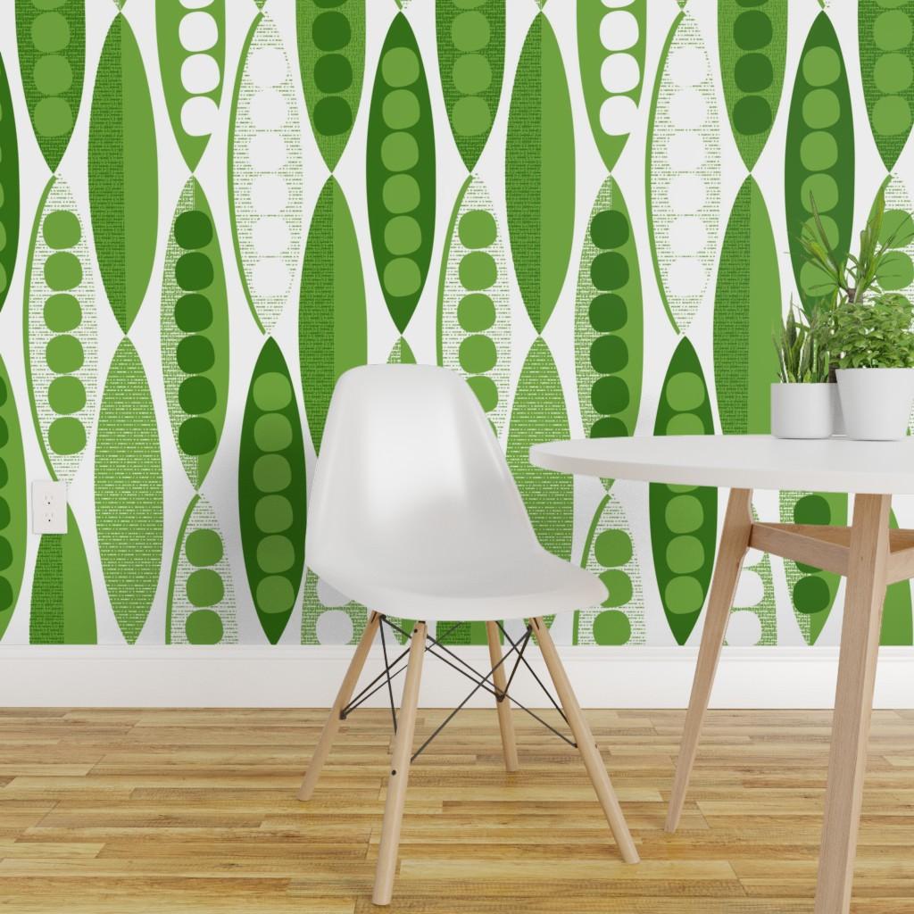Wallpaper Roll Mod Modern Pea Pod Peapod Modernist Wallpaper 24in 1024x1024