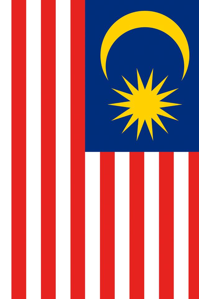 Malaysia Flag iPhone Wallpaper HD 640x960