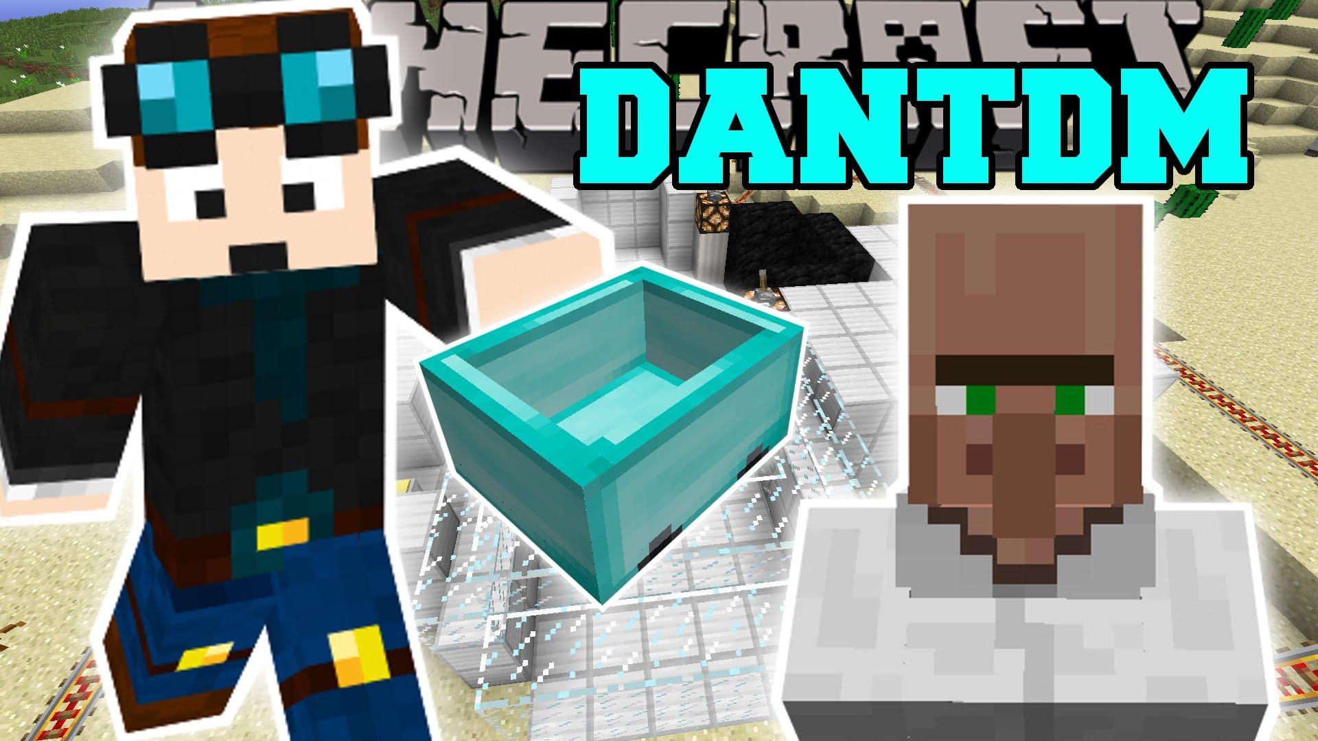 Minecraft THEDIAMONDMINECART MOD TRAYAURUS THE LAB DANTDM Mod 1920x1080