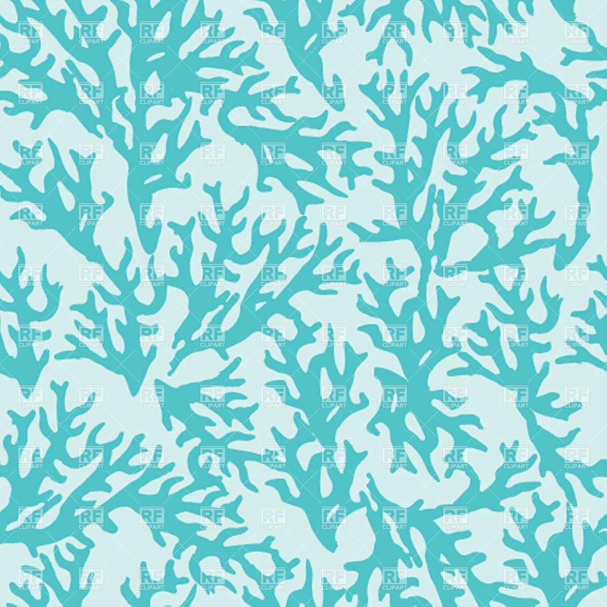 Seamless pattern with blue coral 39027 download royalty free vector 1200x1200
