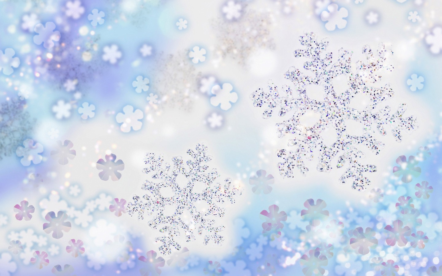 Christmas Snowflakes Wallpaper