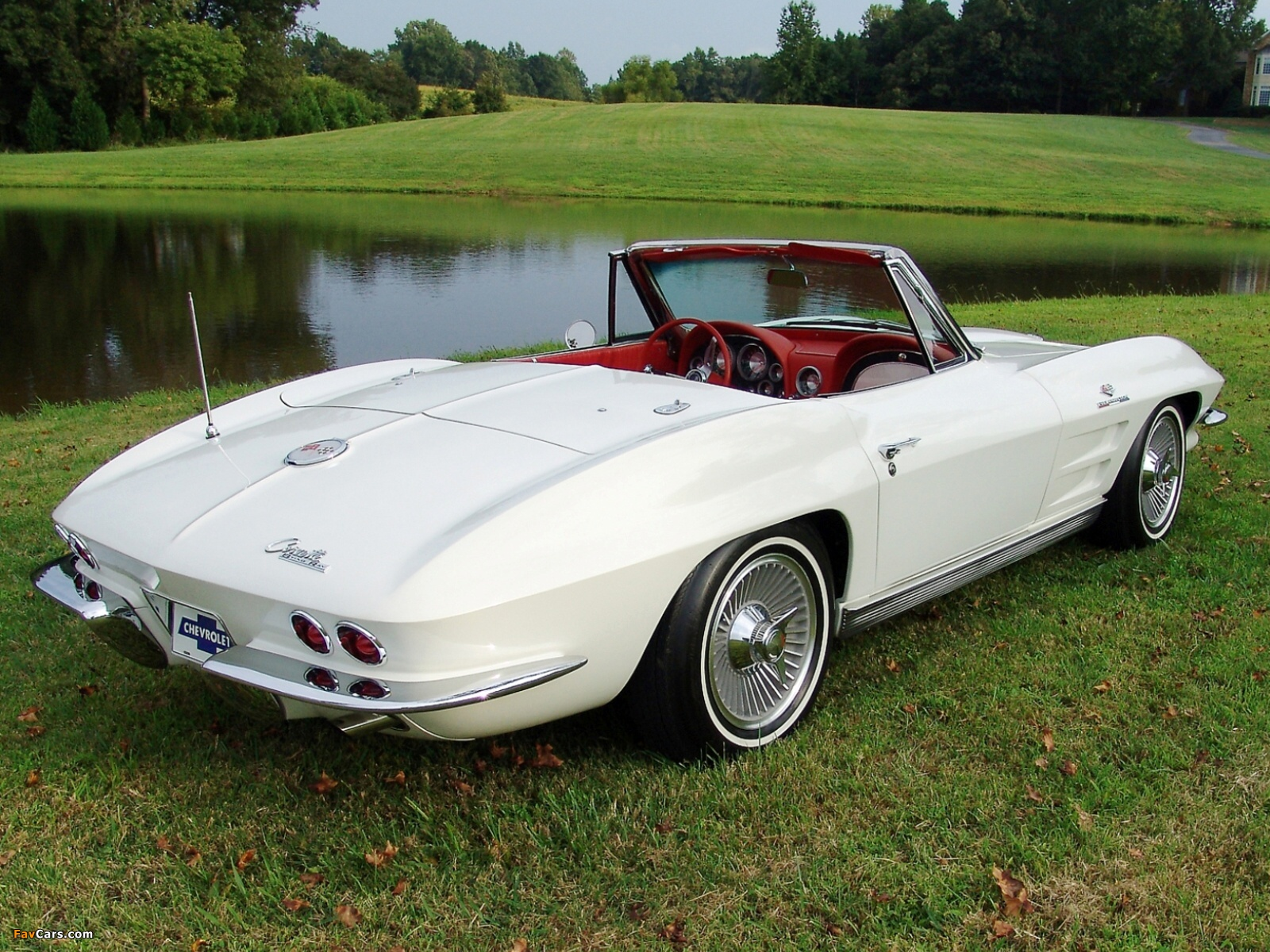 Corvette Sting Ray Convertible C2 1963 wallpapers 1600 x 1200 1600x1200