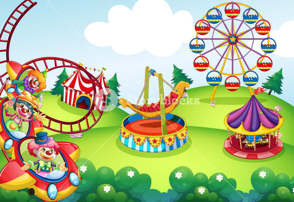Wallpaper of circus and theme park design Royalty  Stock Image 1000x686