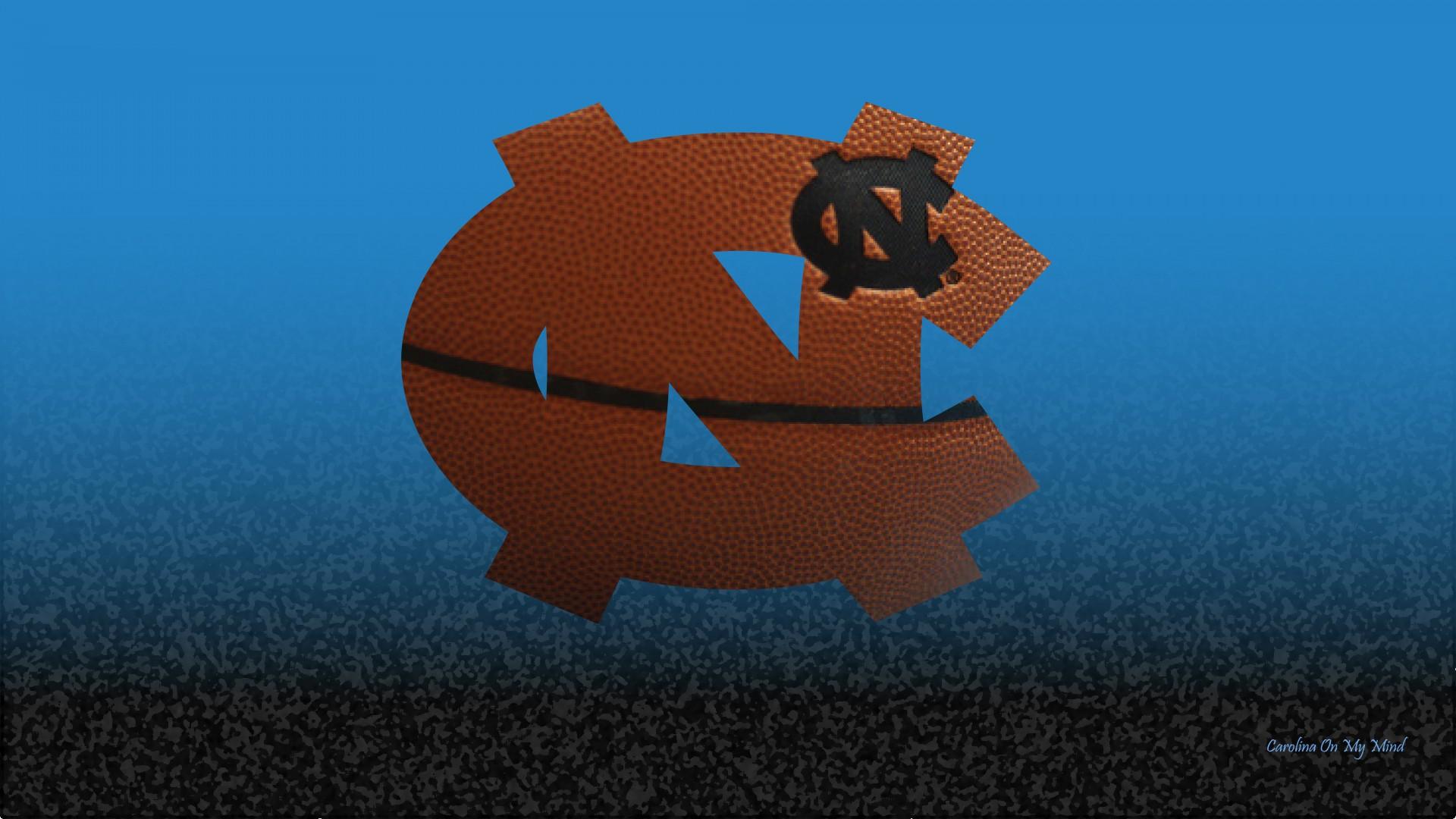 UNC Wallpaper   Basketball Grain NC Logo on Blue and Black Textured 1920x1080