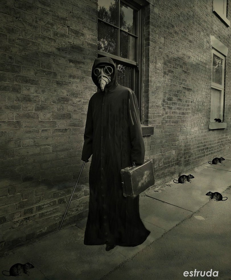 The Plague Doctor On His Way To Another Sufferer by 812x983