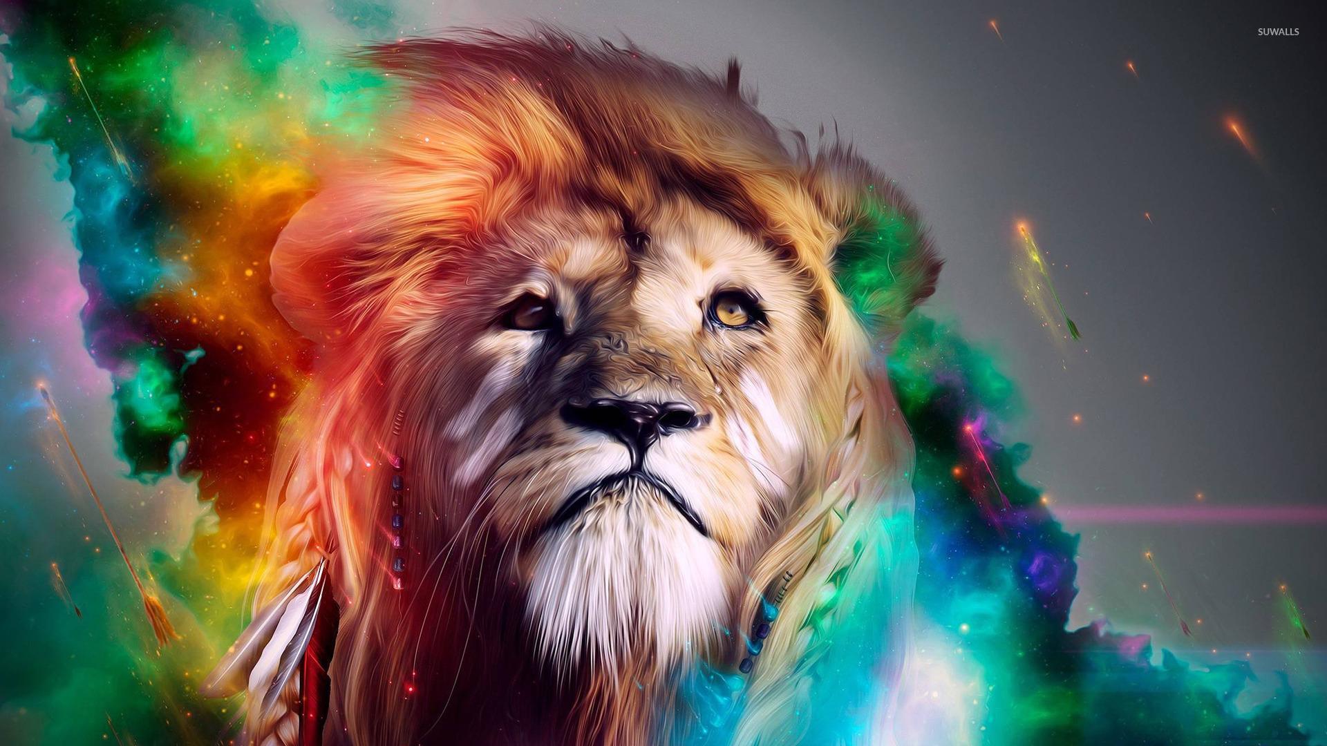 Colorful lion wallpaper   Digital Art wallpapers   15854 1920x1080