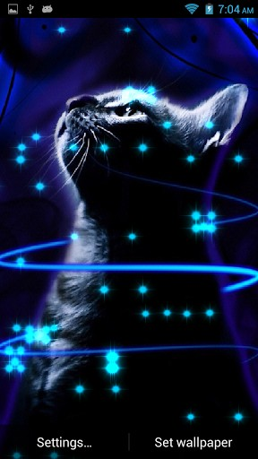 288x512px Neon Cat Wallpaper Wallpapersafari