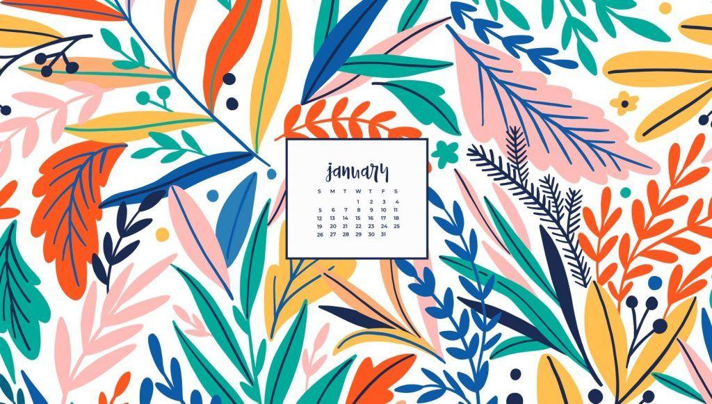 Desktop January 2020 Calendar Wallpaper in 2020 Calendar 1024x581