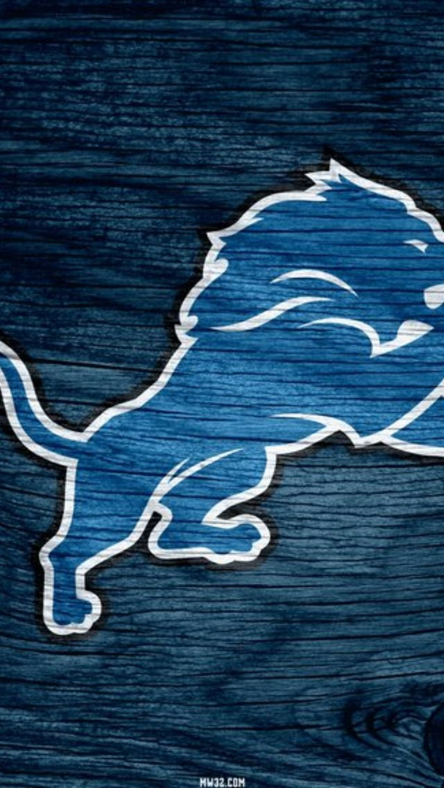 Detroit Lions Blue Weathered Wood Wallpaper for iPhone 5 640x1136