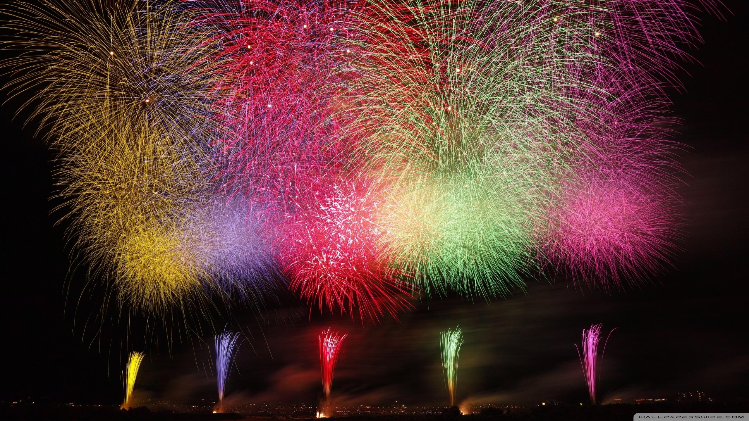 Amazing Fireworks 2020 Ultra HD Desktop Background Wallpaper for 2560x1440