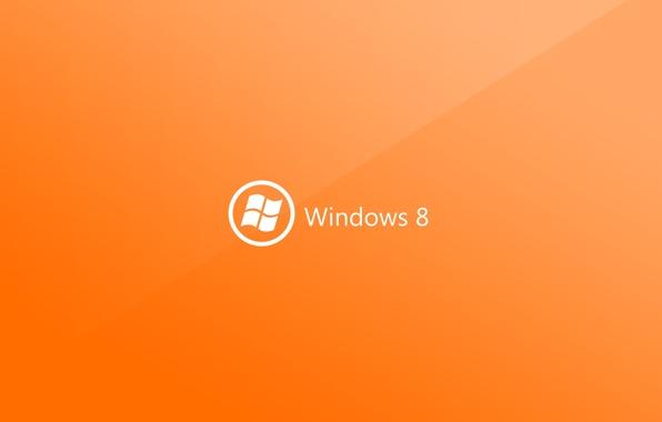 hi tech windows 8 pc microsoft logo orange wallpapers hi tech 596x380