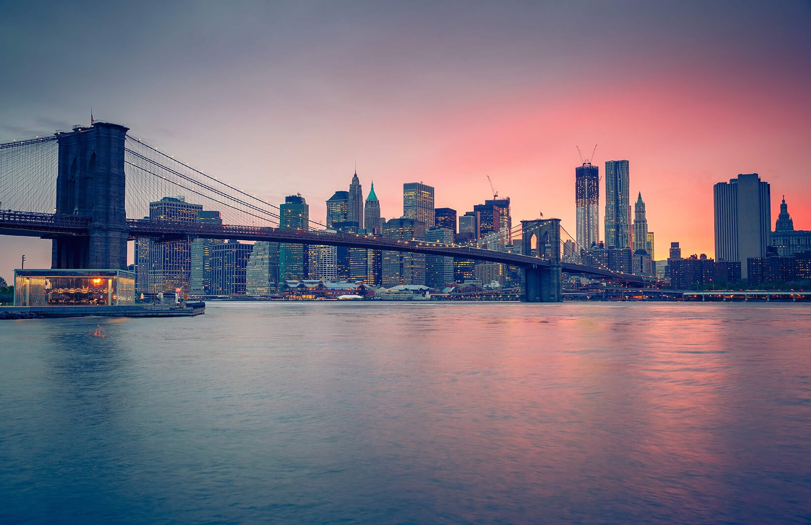 Sunset Over NYC Wallpaper Mural MuralsWallpaper 1650x1070