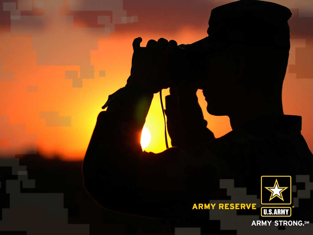 Army Reserves Sunset Wallpaper 1024x768
