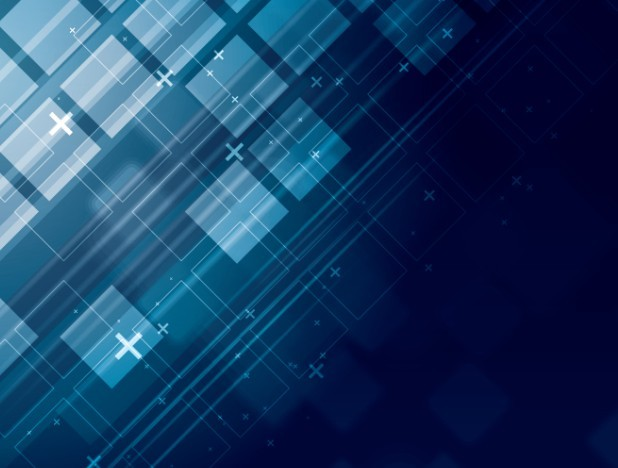 Free Dark Blue Abstract Blocks Background Vector - TitanUI