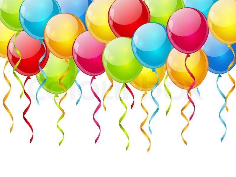 Geburtstag Ballons Hintergrund Stock Vektor Colourbox 800x600