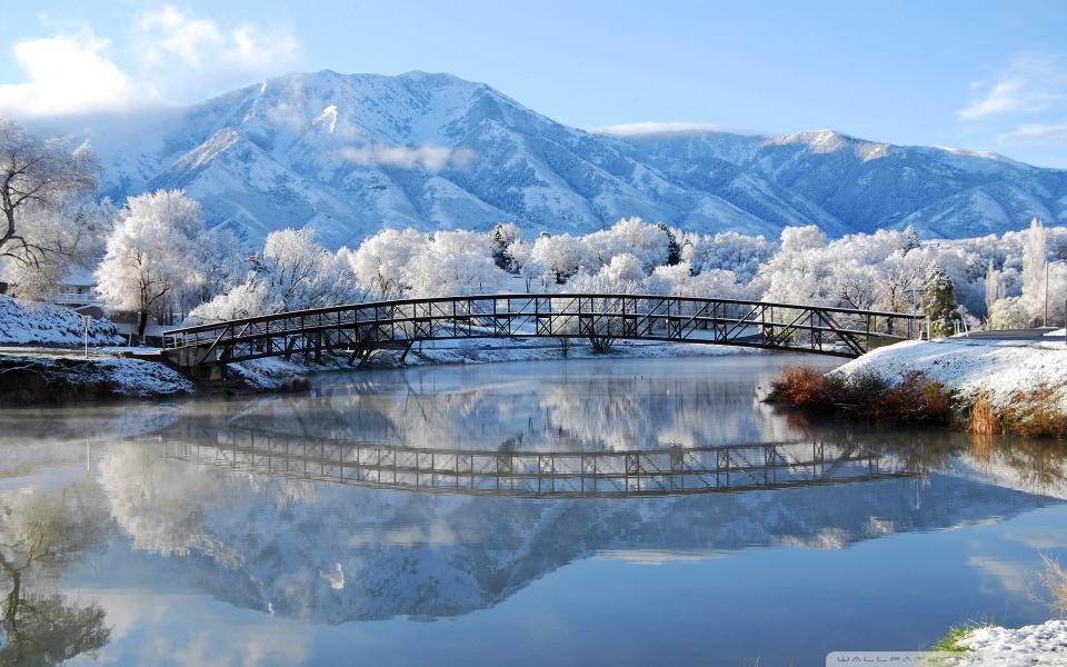 Beautiful Winter Scene 4K HD Desktop Wallpaper for 4K Ultra HD 960x600