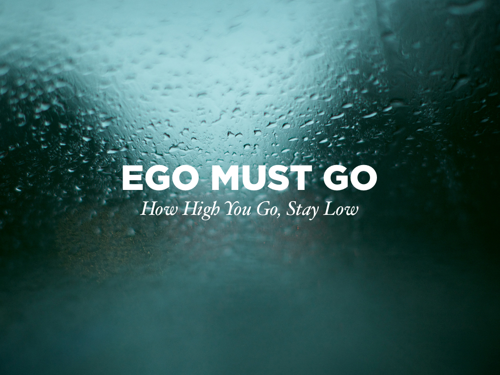 Motivational wallpaper on Ego Ego Must Go Dont Give Up World 1024x768