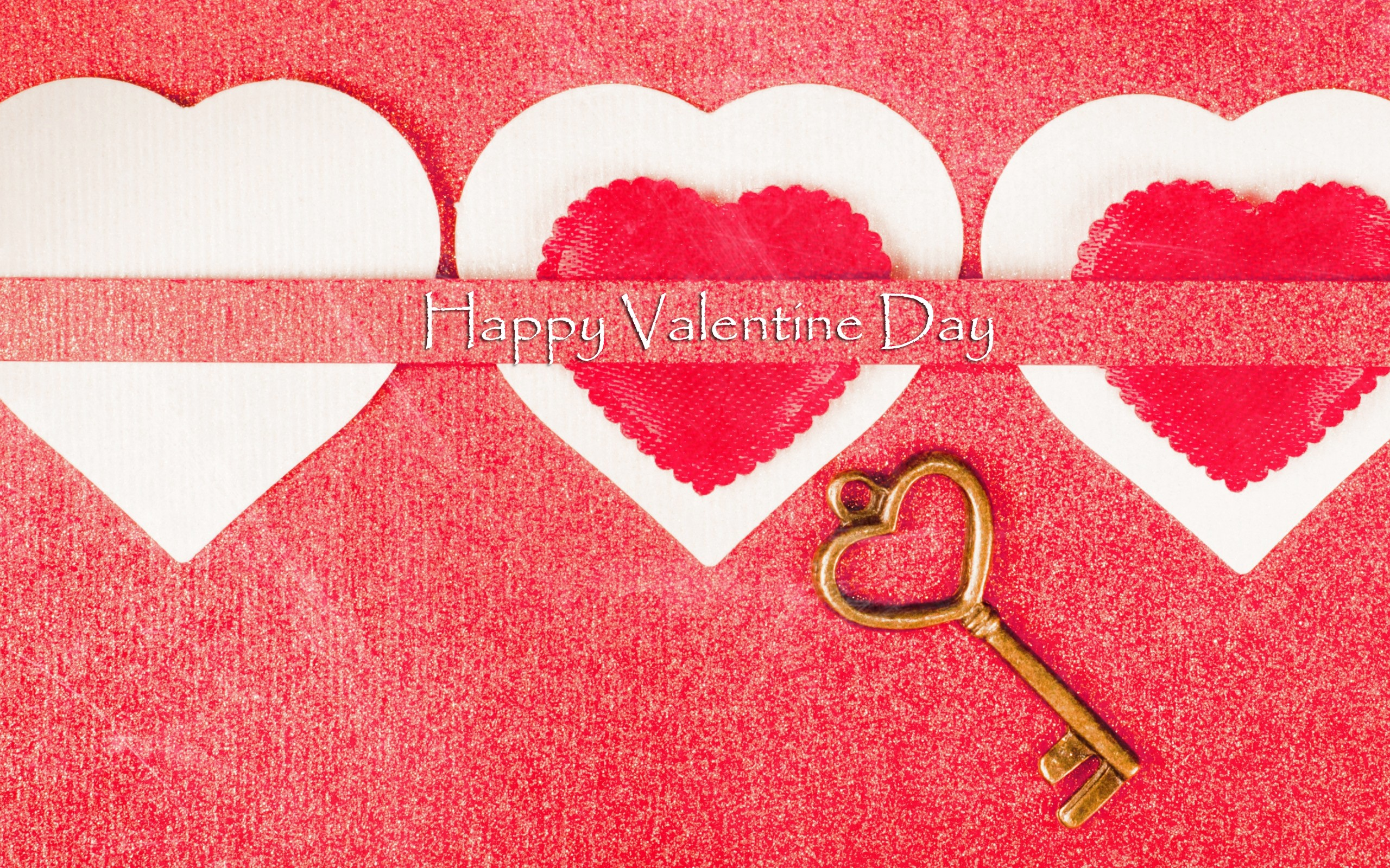 Happy Valentines Day Love Heart Key Wallpaper   New HD Wallpapers 2560x1600