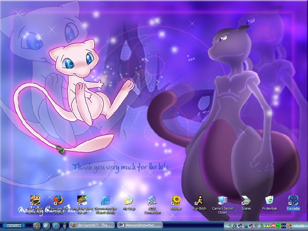 mew mewtwo Mew and Mewtwo 1024x768