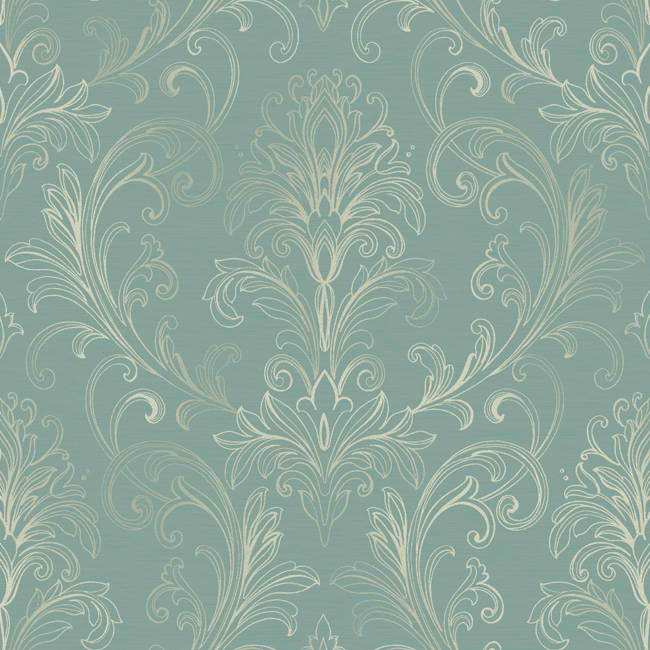 Blue White BR6266 Linear Damask Wallpaper   Traditional Wallpaper 650x650