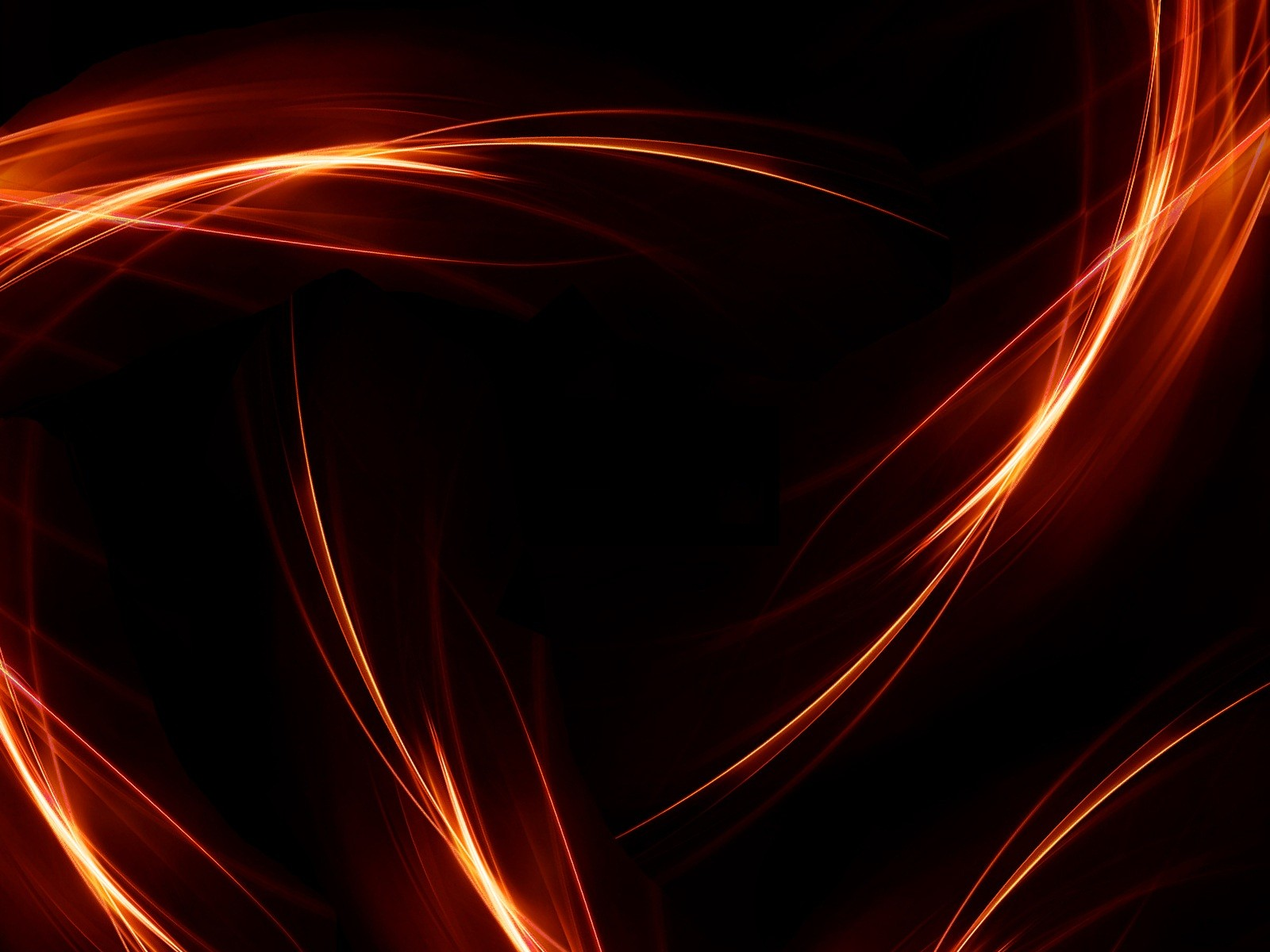 Orange And Black Background   PowerPoint Backgrounds for 1600x1200