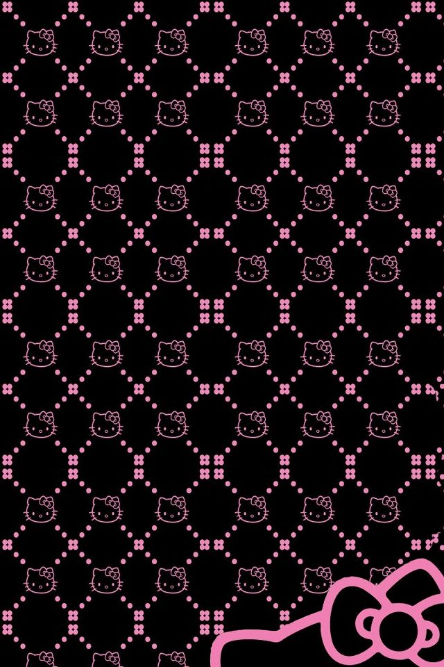 640x960px Hello Kitty Wallpaper Pink And Black Wallpapersafari