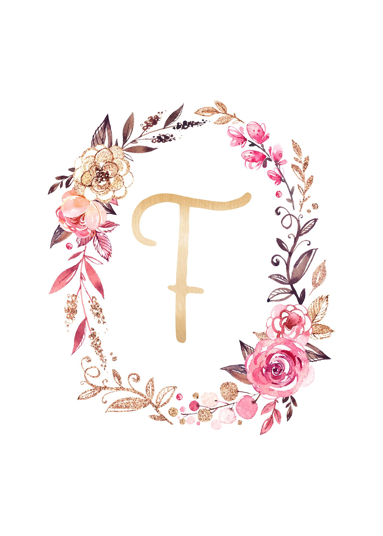 Glitter and Glam Monogram Printables The Cottage Market 1500x2100
