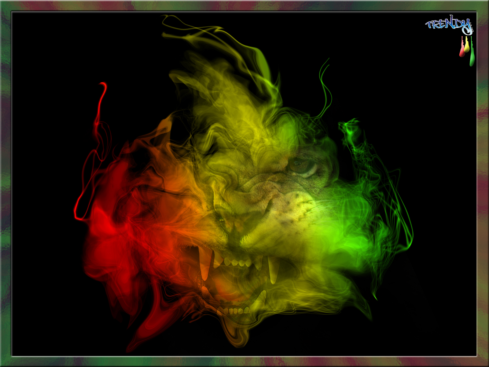 My Top Collection Rasta lion wallpaper 2 1600x1200