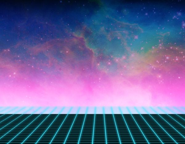 Gallery For 80s Grid Background Neon Artwork 80S Style Style 600x467