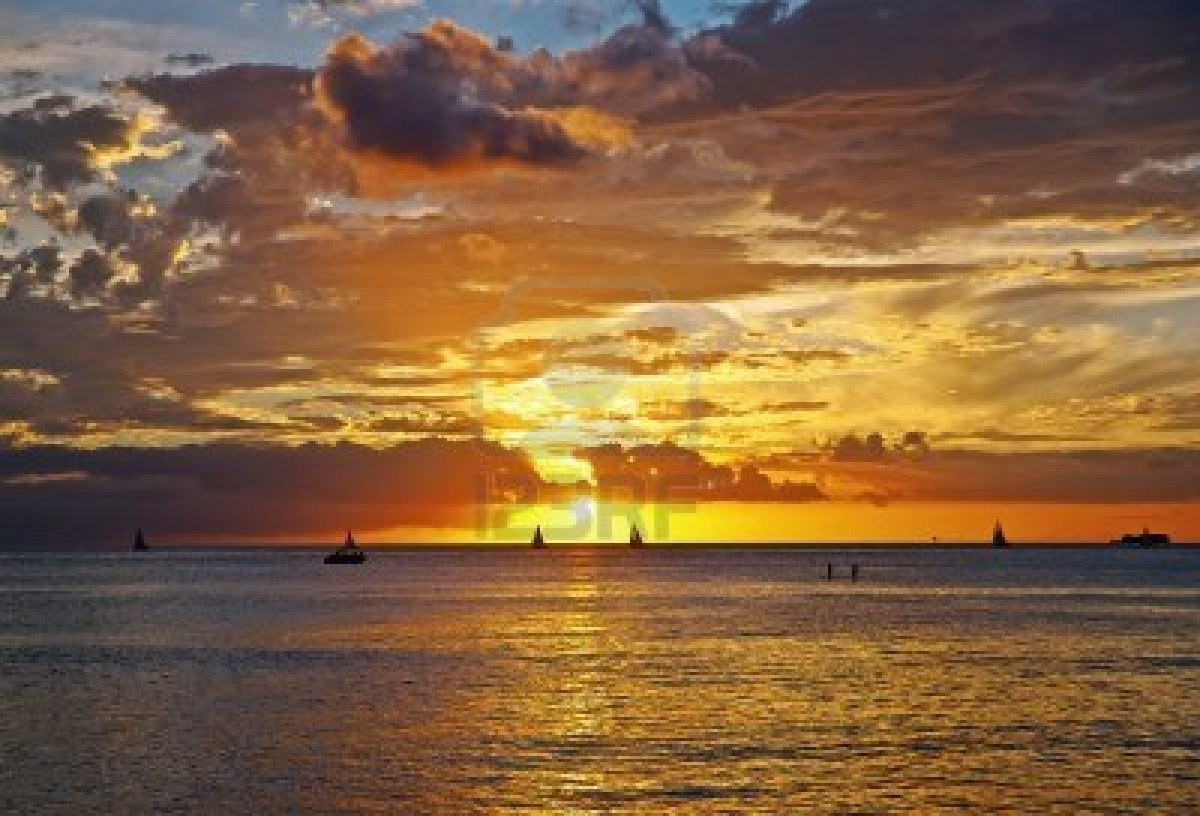 Free Download Waikiki Beach Sunset Wallpaper Sunset In