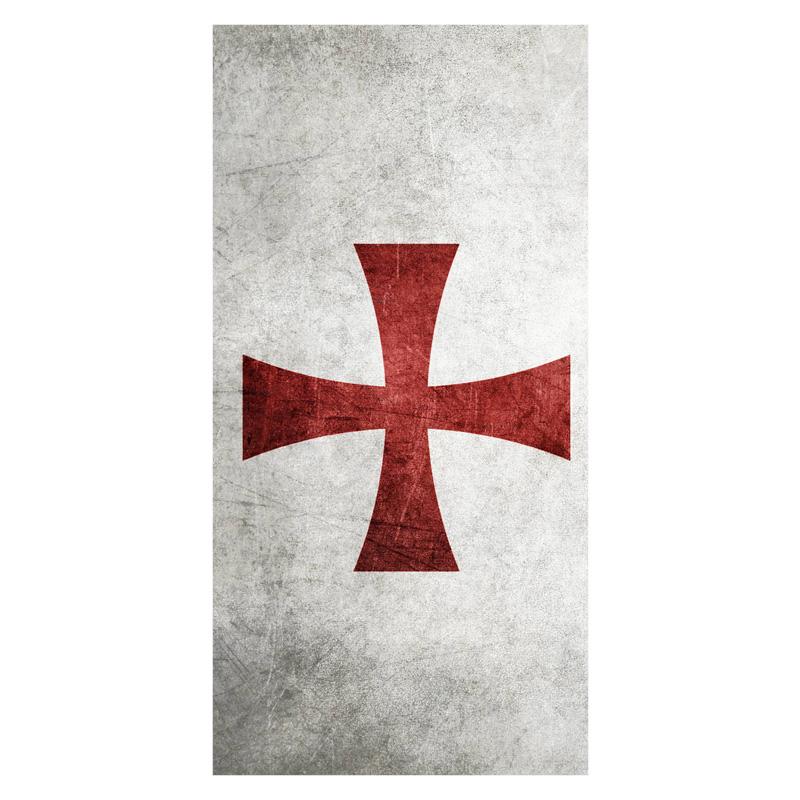 2016 Custom Knights Templar Cross Background Printed Soft Bamboo 800x800