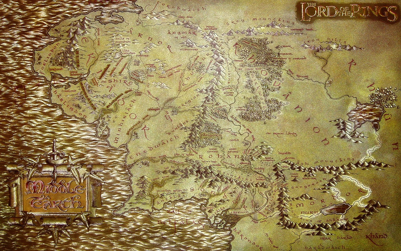 earth the lord of the rings maps wallpaper HQ WALLPAPER   171335 1680x1050