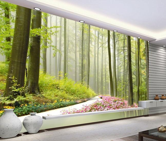 New large wallpaper Custom wallpaper HD forest landscape mural wall 647x550