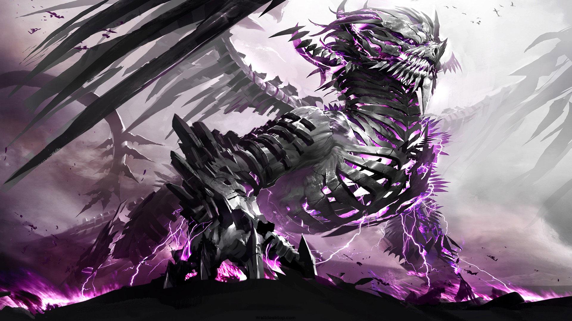 Anime Dragon Steel Desktop Hd Wallpaper Lantre De Zarctus X