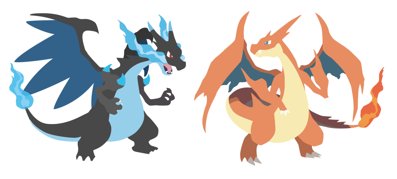 Mega Charizard X and Y   Pokemon X Y Vector by firedragonmatty on 1280x578