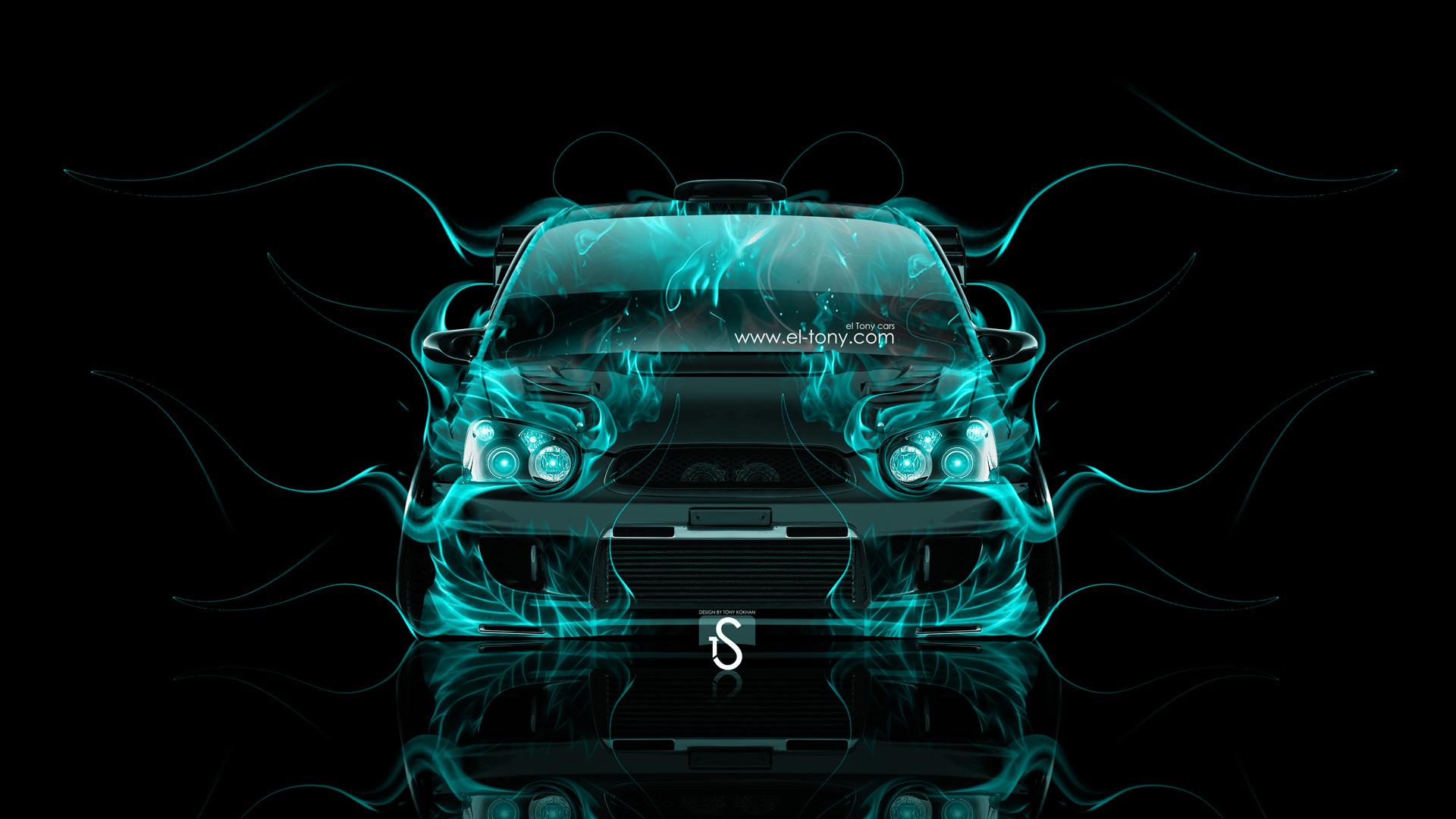 Subaru Impreza WRX STI JDM Front Fire Car 2014 1920x1080