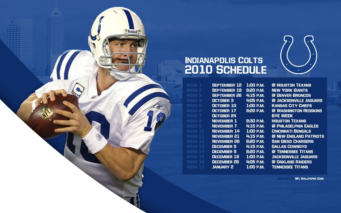 NFL Wallpaper Zone Indy Colts 2010 Schedule Wallpaper   Peyton 1440x900