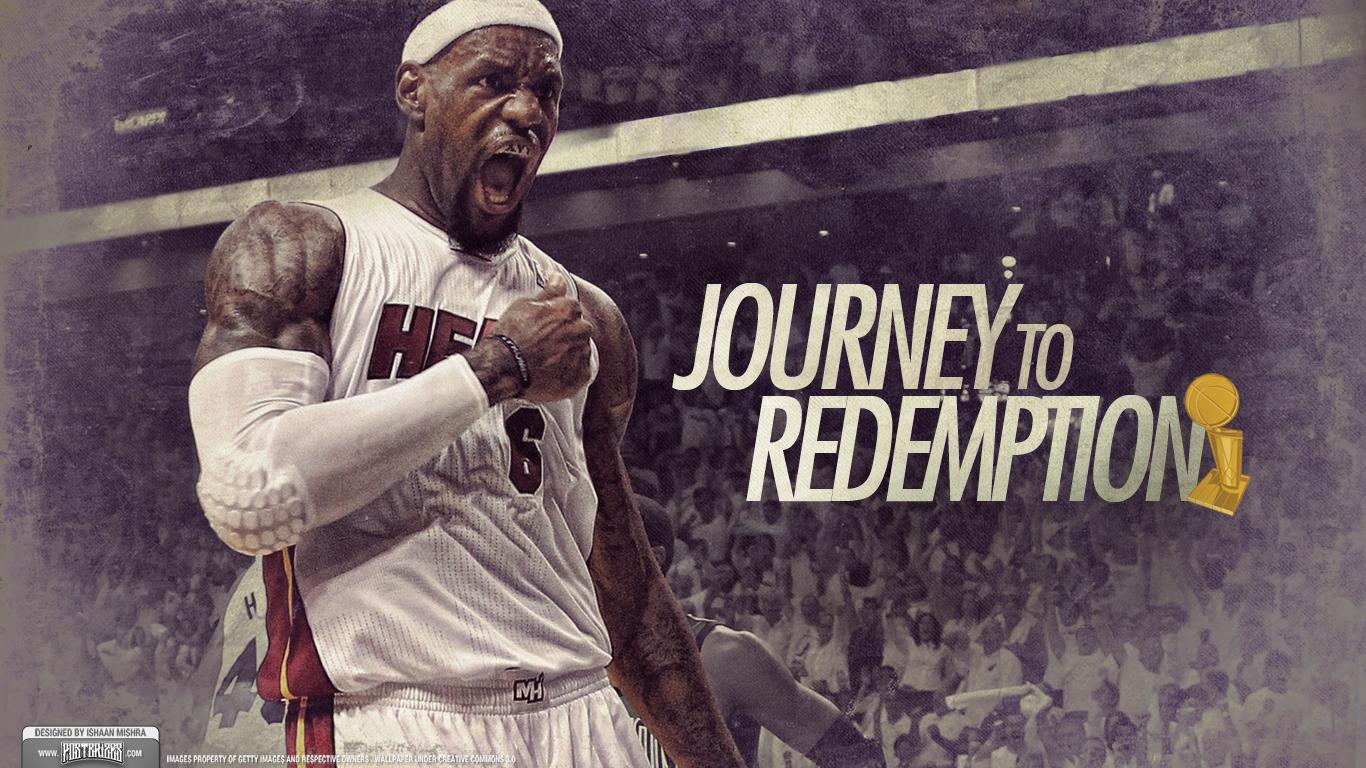 LeBron James 2012 NBA Finals Champion Wallpaper Redemption 1366x768