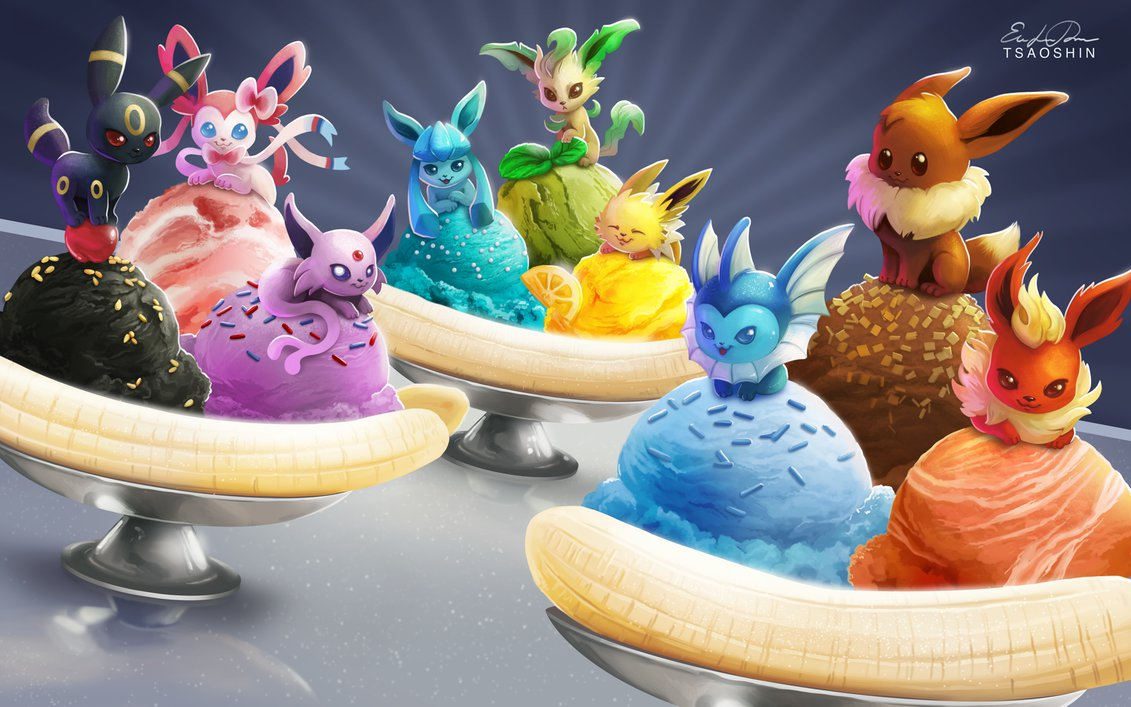 Eevee Banana Splits by TsaoShin 1131x707