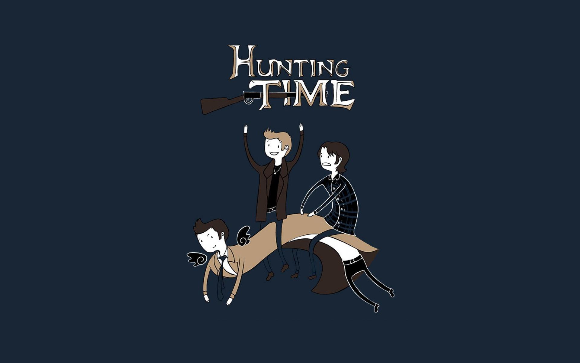 Supernatural Funny Adventure Time Fun Art Hunting Wallpaper 388 1920x1200
