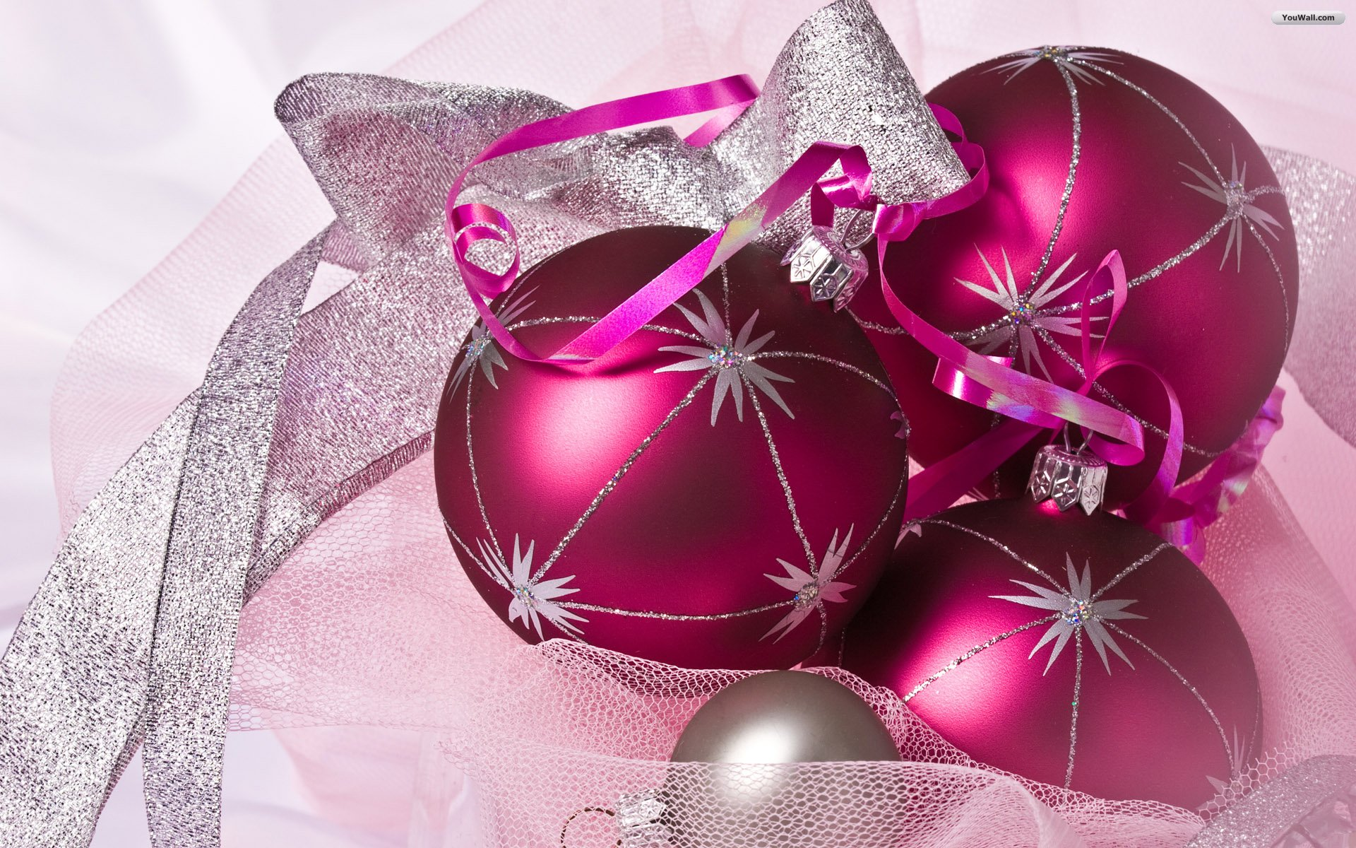 pink christmas ornaments wallpaper 8c6dd 1920x1200