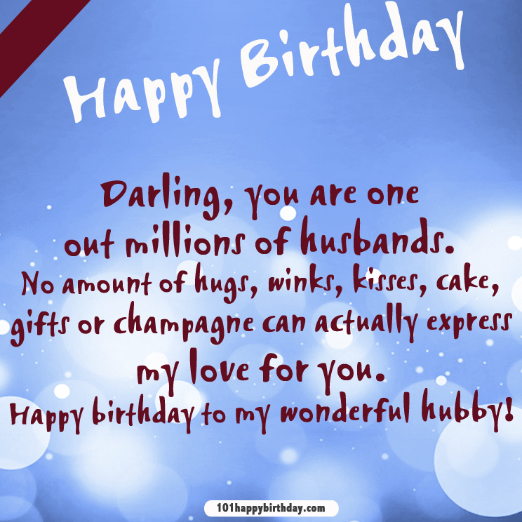Download Birthday Wishes For Husband 101 Happy Birthday