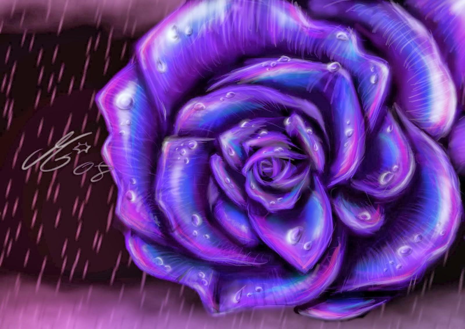 Purple Rose Wallpaper Wallpapersafari