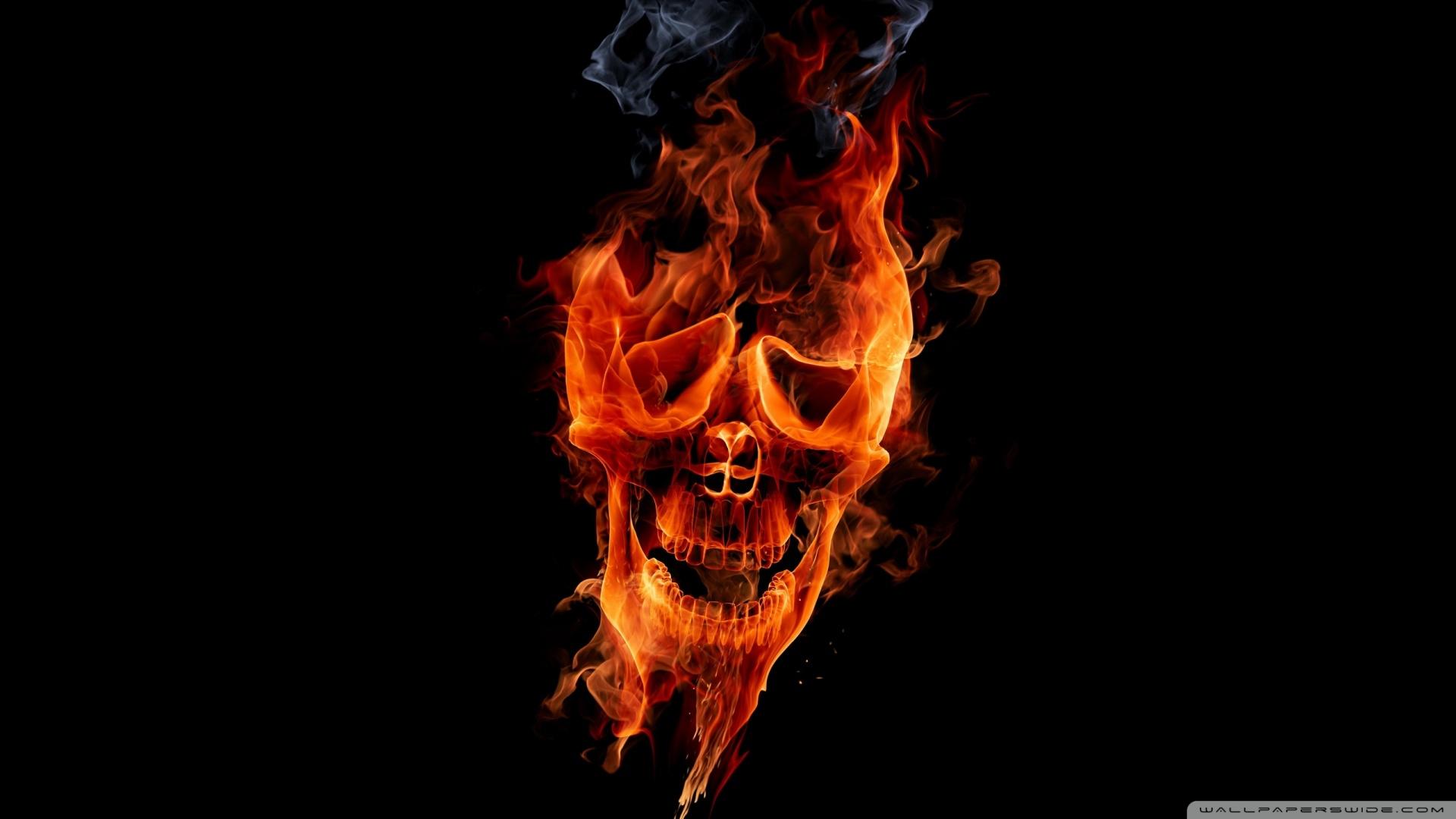 Fire Skull HD desktop wallpaper High Definition 1920x1080