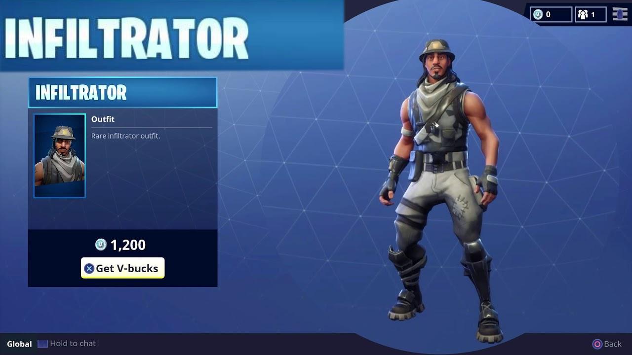 Rare Infiltrator Character Outfit Skin for Vbucks in Fortnite Battle 1280x720