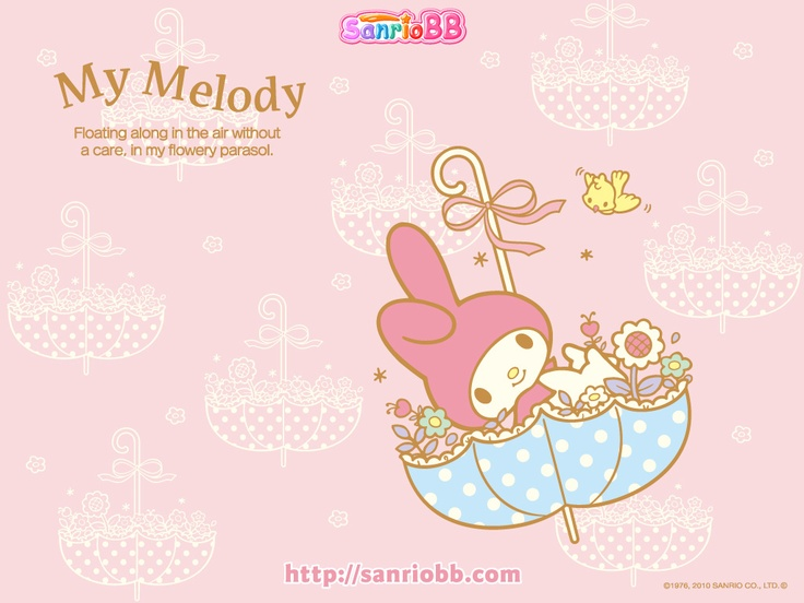 My Melody Sanrio Wallpaper Pinterest 736x552