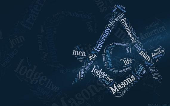 Masonic Freemason Typography Wallpaper 570x356