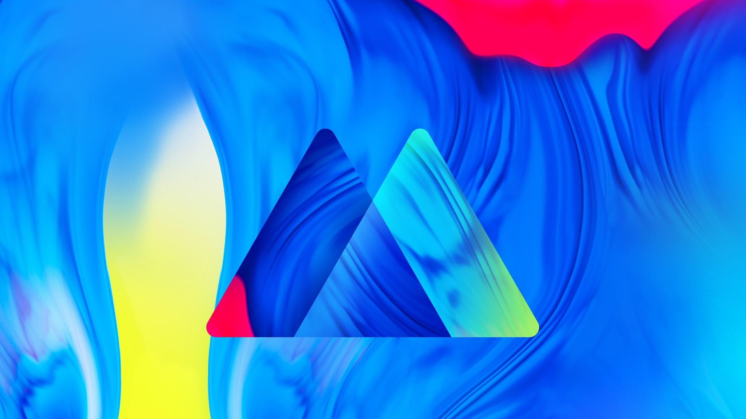 Wallpaper Samsung Galaxy M10 abstract colorful HD OS 21445 2560x1440